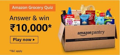 Amazon Grocery Quiz Answers Win Rs.10000