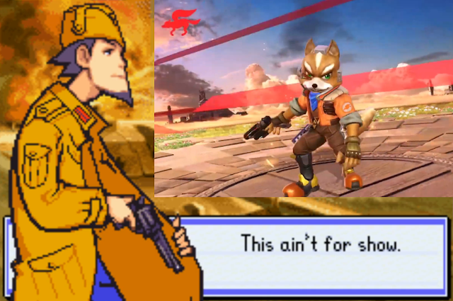 Fox McCloud Grit Blue Moon Advance Wars Super Smash Bros. Ultimate gun victory screen