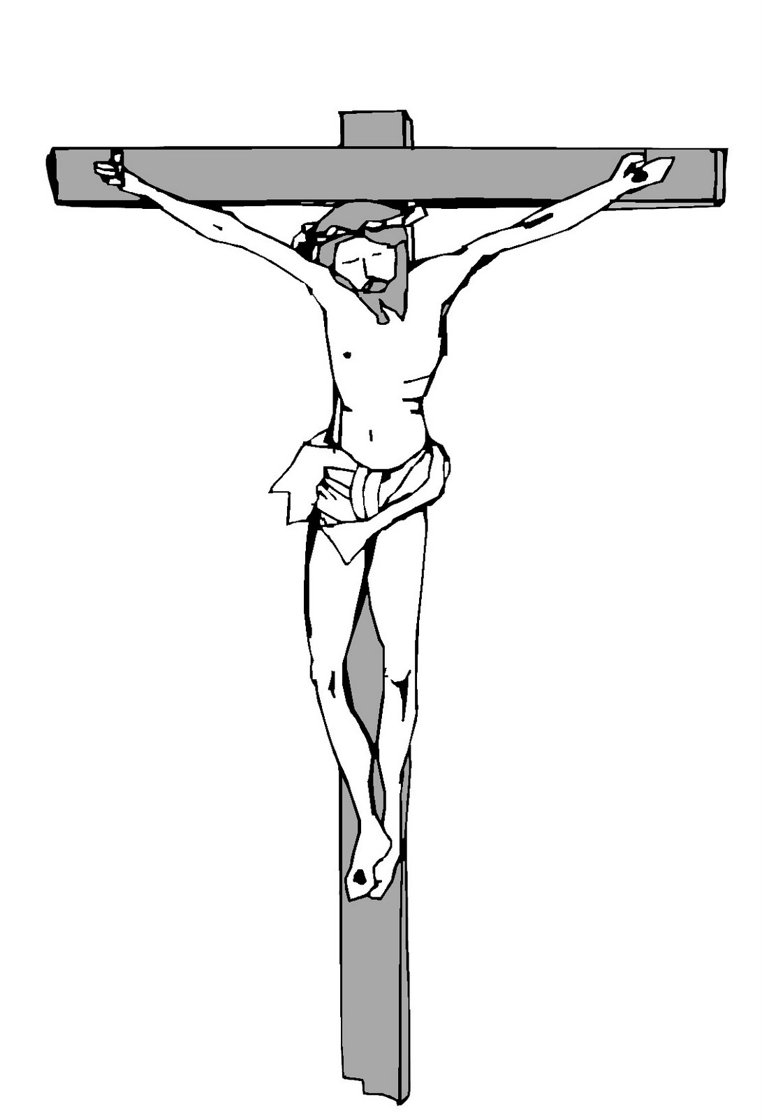 5 jesus christ crucifixion printable coloring pages for for Coloring pages of jesus on the cross