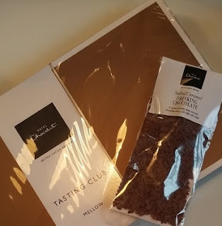 Picture of box of Hotel Chocolate chocolates and drinking chocolate bought on offer