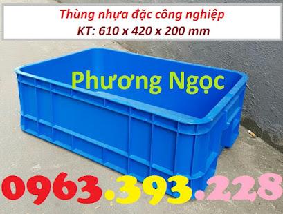 Thùng nhựa đặc B1, sóng nhựa công nghiệp, thùng nhựa có nắp, hộp nhựa linh kiện TN%25C4%2590B11