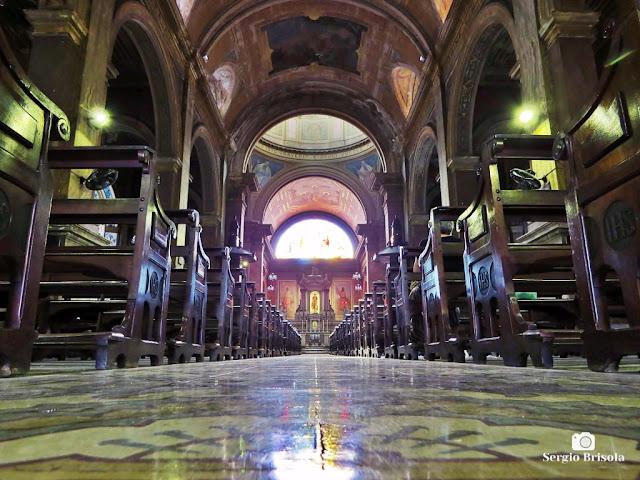 Vista do interior da Paróquia Bom Jesus do Brás - São Paulo