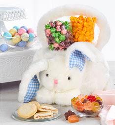 Plush Bunny Basket and Goodies image