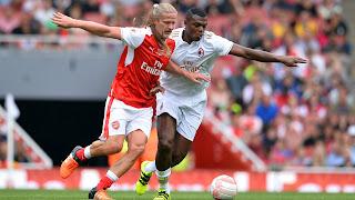 Hat Trick For Nwakwo Kanu As Arsenal Legends Beat Milan Legends