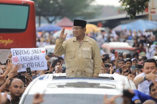 Prabowo: Elektabilitas 02 Rata-rata 60%