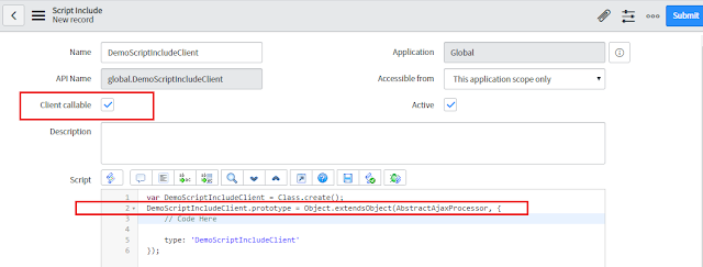 Client Callable Script Include in ServiceNow