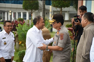 Wakapolda Jambi Hadiri Penjemputan Kepala BNN RI Dibandara Sultan Thaha