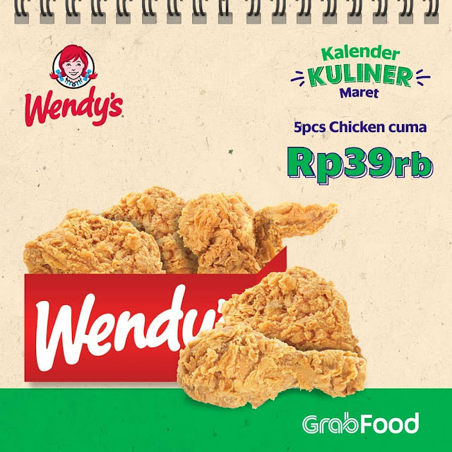 #Wendy's - #Promo Party Pack (5 pcs ayam) Wendys Hanya 39K (s.d 10 Maret 2019)