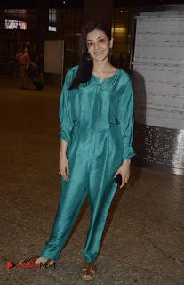 Actress Kajal Agarwal Pictures at Mumbai Domestic Airport 0001