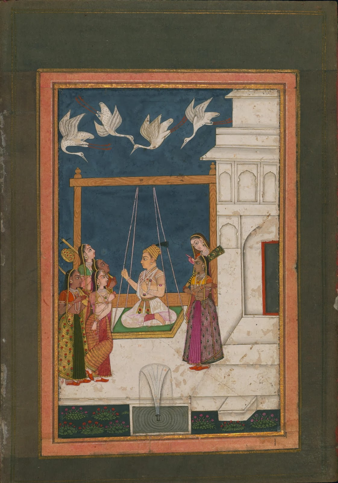 Indian manuscript miniature - music visualisation