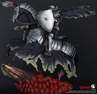 Impresionante estatua de Skullknight de Berserk, realizada por Taka Corp.
