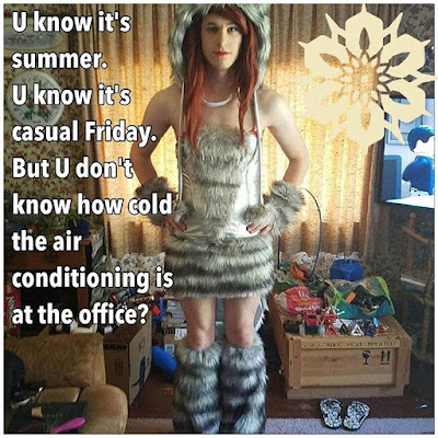 Summer Casual Friday Sissy TG Caption - World TG Captions - Crossdressing and Sissy Tales and Captioned images
