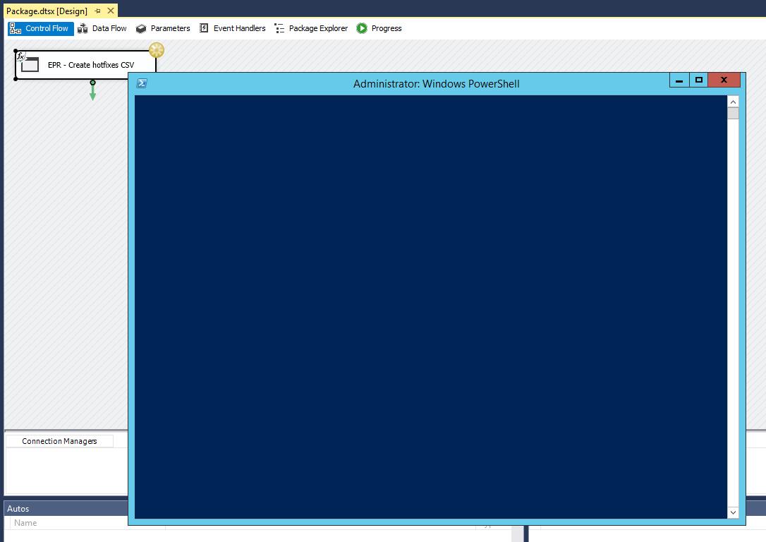 Microsoft SQL Server Integration Services: Executing a PowerShell