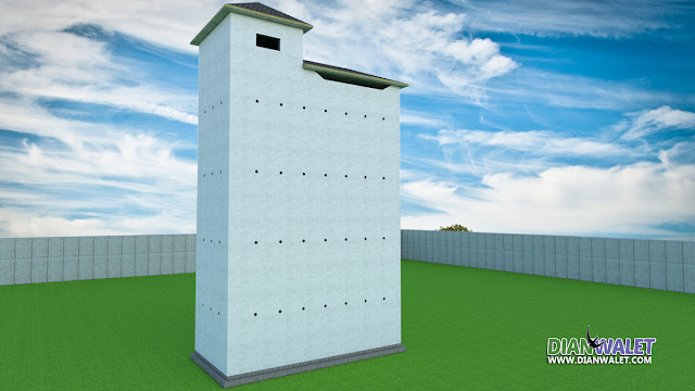 Desain Rumah Burung Walet 4X8 4 Lantai Premium TYPE A