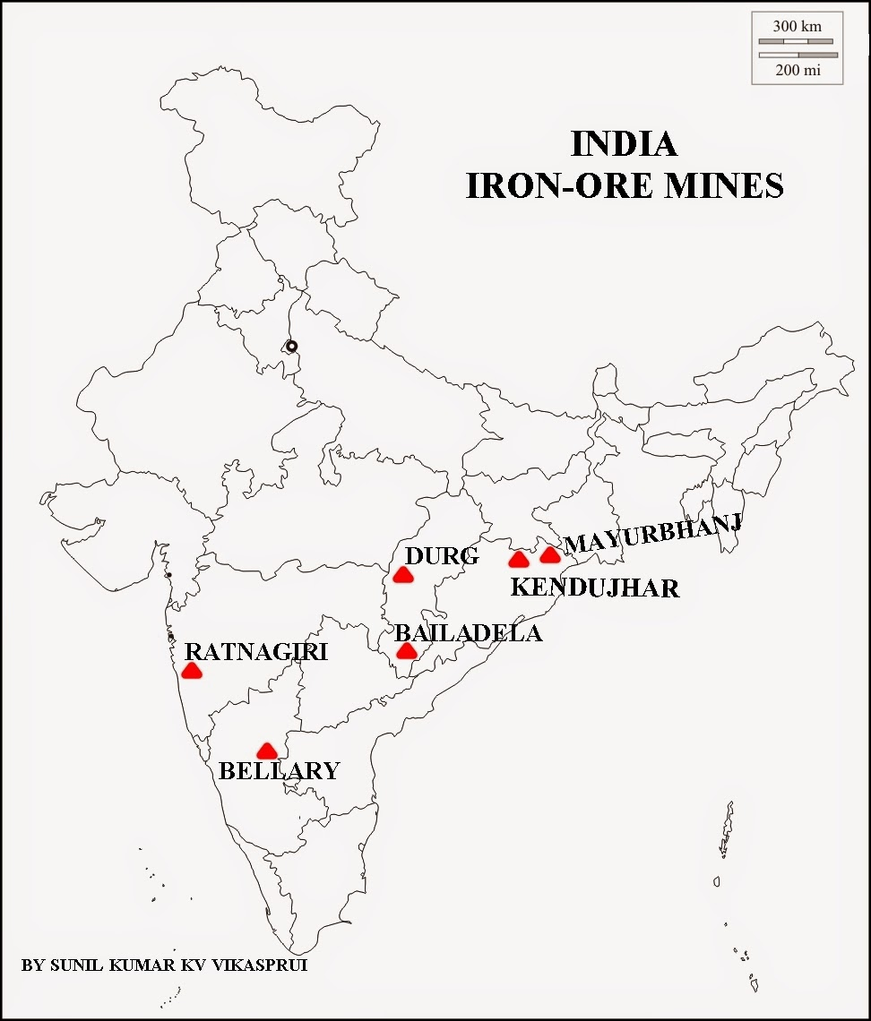 Geography and We: MAP WORK IRON-ORE MINES