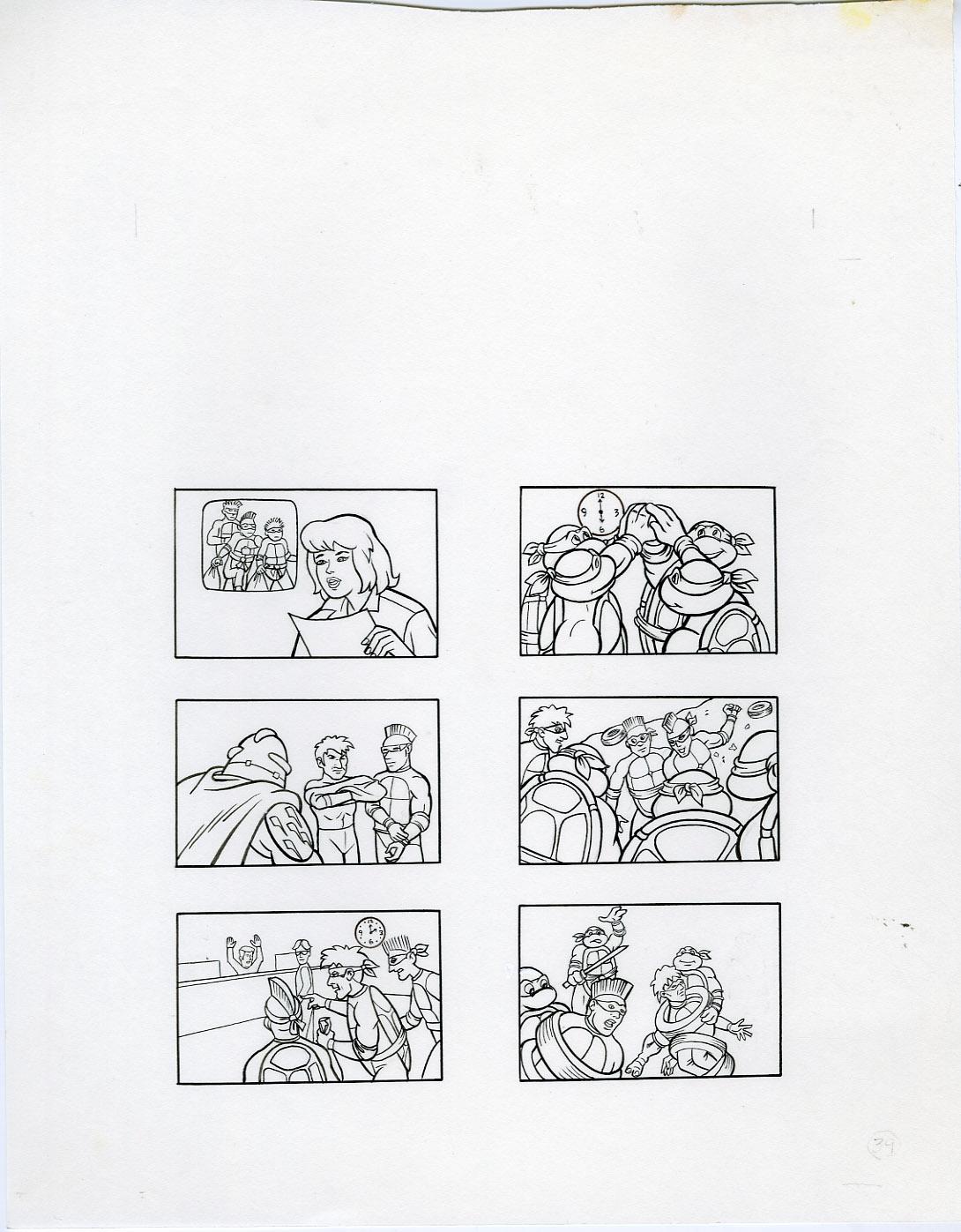 Original Comic Strip Animation And Illustration Art