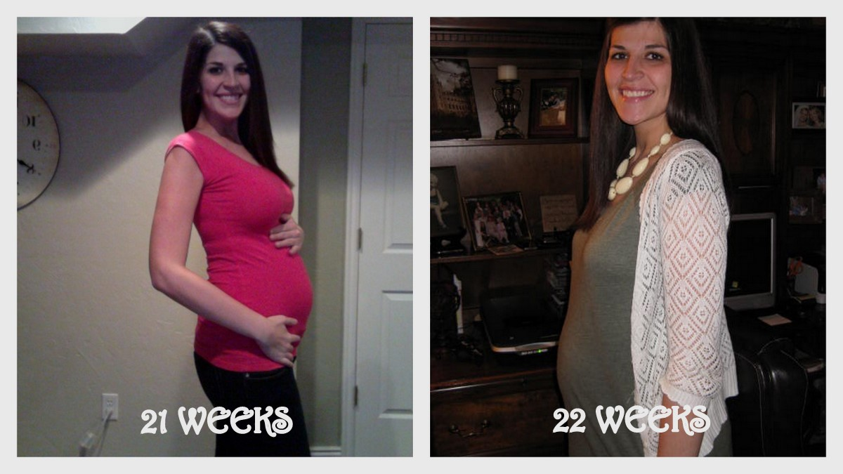 21 Weeks: -Started craving ice really bad, this continued very strong  throughout my entire pregnancy 23 Weeks: -First ...