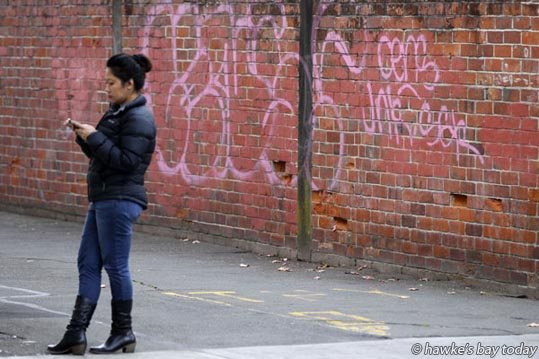 Graffiti in an alleyway off Dalton St, Napier. photograph