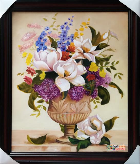 Tranh tĩnh vật hoa đẹp