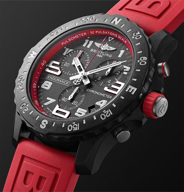 Review Breitling Endurance Pro 44 MM Red Watch Replica With Low Price