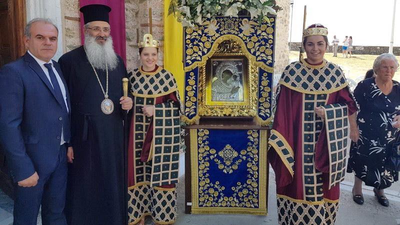 Με βυζαντινή μεγαλοπρέπεια ο εορτασμός της Παναγίας Κοσμοσώτειρας Φερών