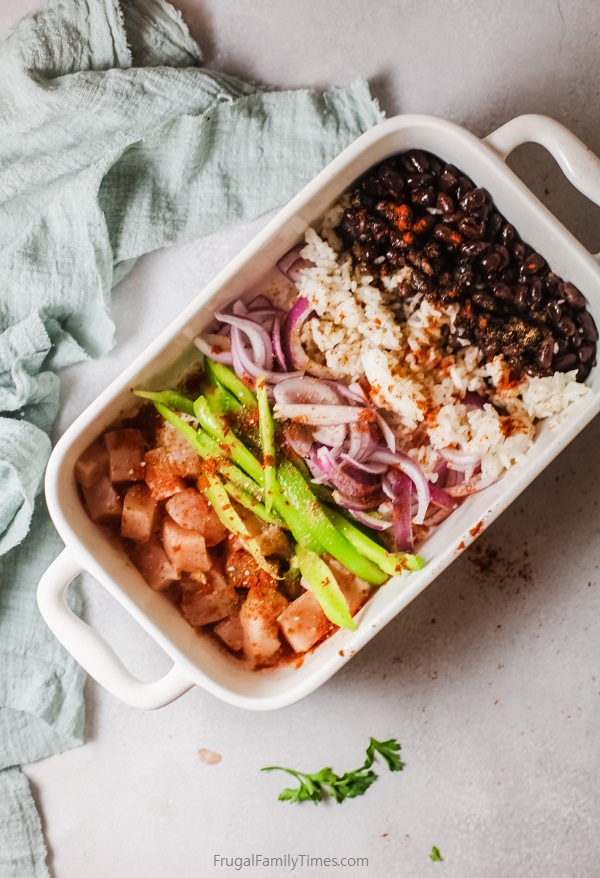 Mexican chicken beans and rice ingredients