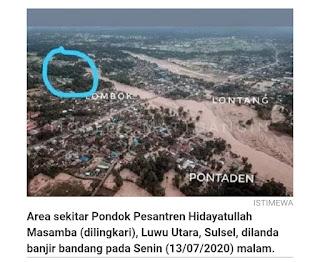 Viral, banjir bandang masamba tidak menyentuh pesantren Hidayatullah