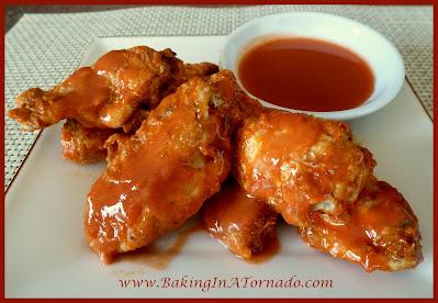 Baked Hot Wings | recipe developed by www.BakingInATornado.com | #recipe #dinner