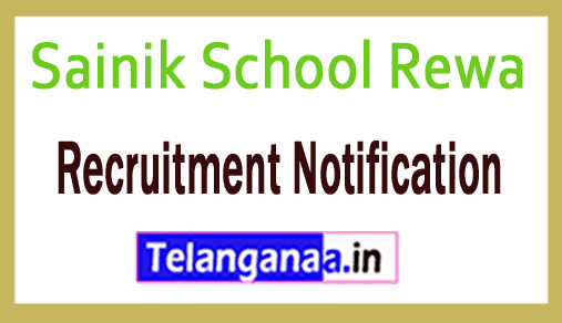 Sainik School Rewa Recruitment Notification