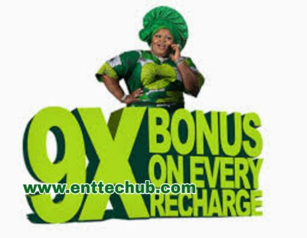 Get 900% Bonus on Every Recharge Via 9mobile 9x