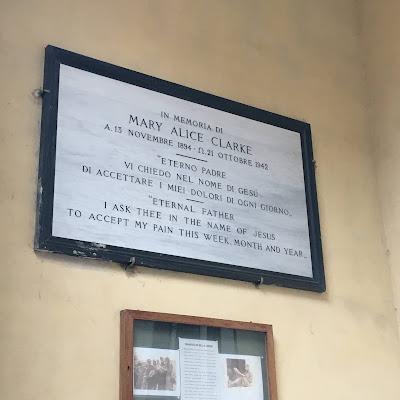 Mary Alice Clarke Istituto Cesare Baronio targa