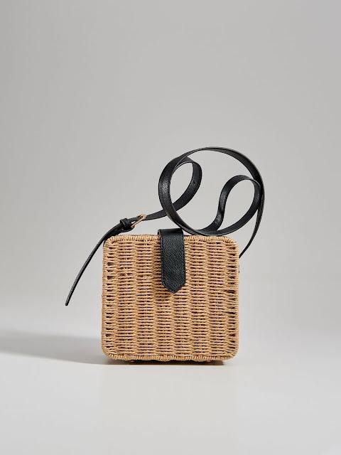 torebka kuferek, torba koszyk, kuferek, wiklinowy koszyk