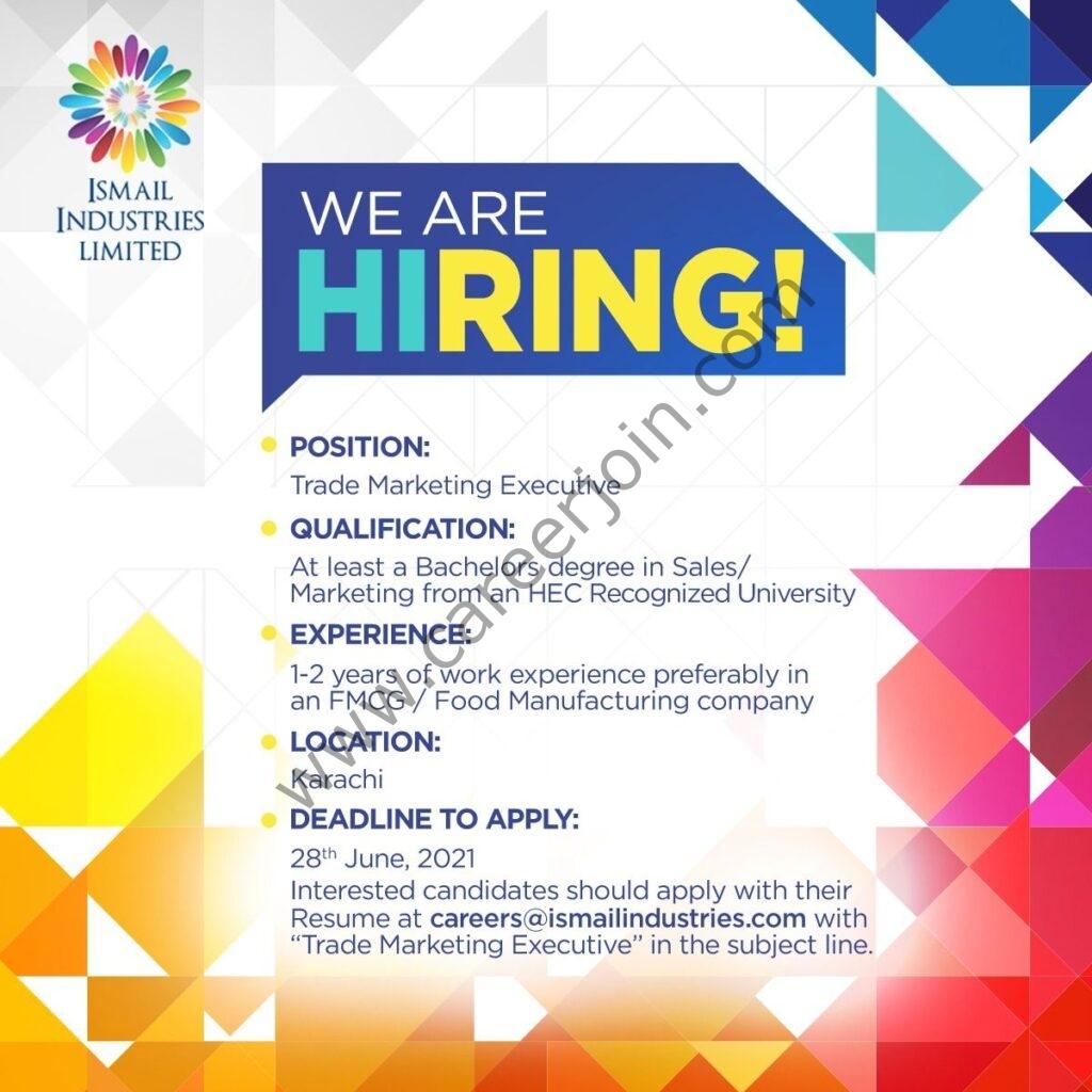 careers@ismailindustries.com - Ismail Industries Ltd Jobs 2021 in Pakistan