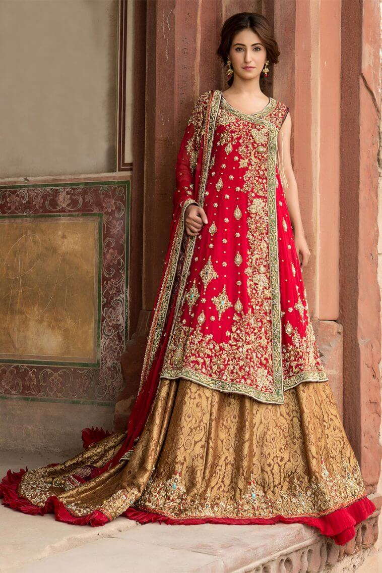 Traditional Pakistani Bridal Barat Dress by Faraz Abid Sheikhu Latest Bridal Collection