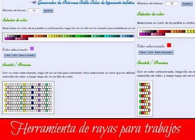 Generador de rayas para Crochet y Calculadoras de Puntos