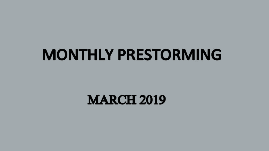 UPSC Monthly Prestorming - March 2019 for UPSC Prelims 2019