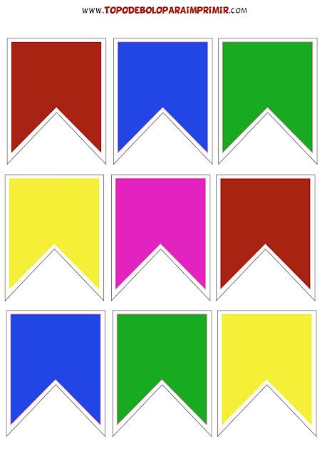 tubete bandeirinhas para imprimir