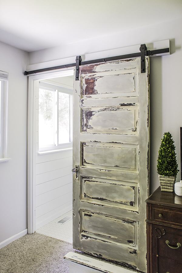 repurposing an old door into sliding version