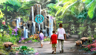 Journey of Water Moana Epcot Attraction Concept Art