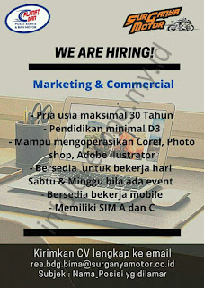 Loker Marketing & Commercial di Planet Ban Bandung