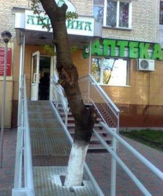 Problème sur une rampe de fauteuil roulant pas aux normes !