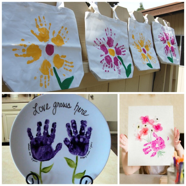 Hand Print Flower Crafts Growing A Jeweled Rose