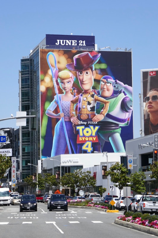 Giant Toy Story 4 movie billboard