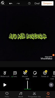 cara membuat teks bergerak di viva video melalui android