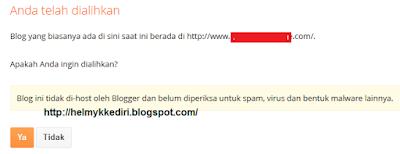 Mengatasi Redirected setelah Pasang Domain