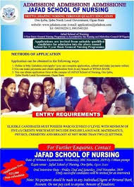 Jafad School of Nursing Postutme