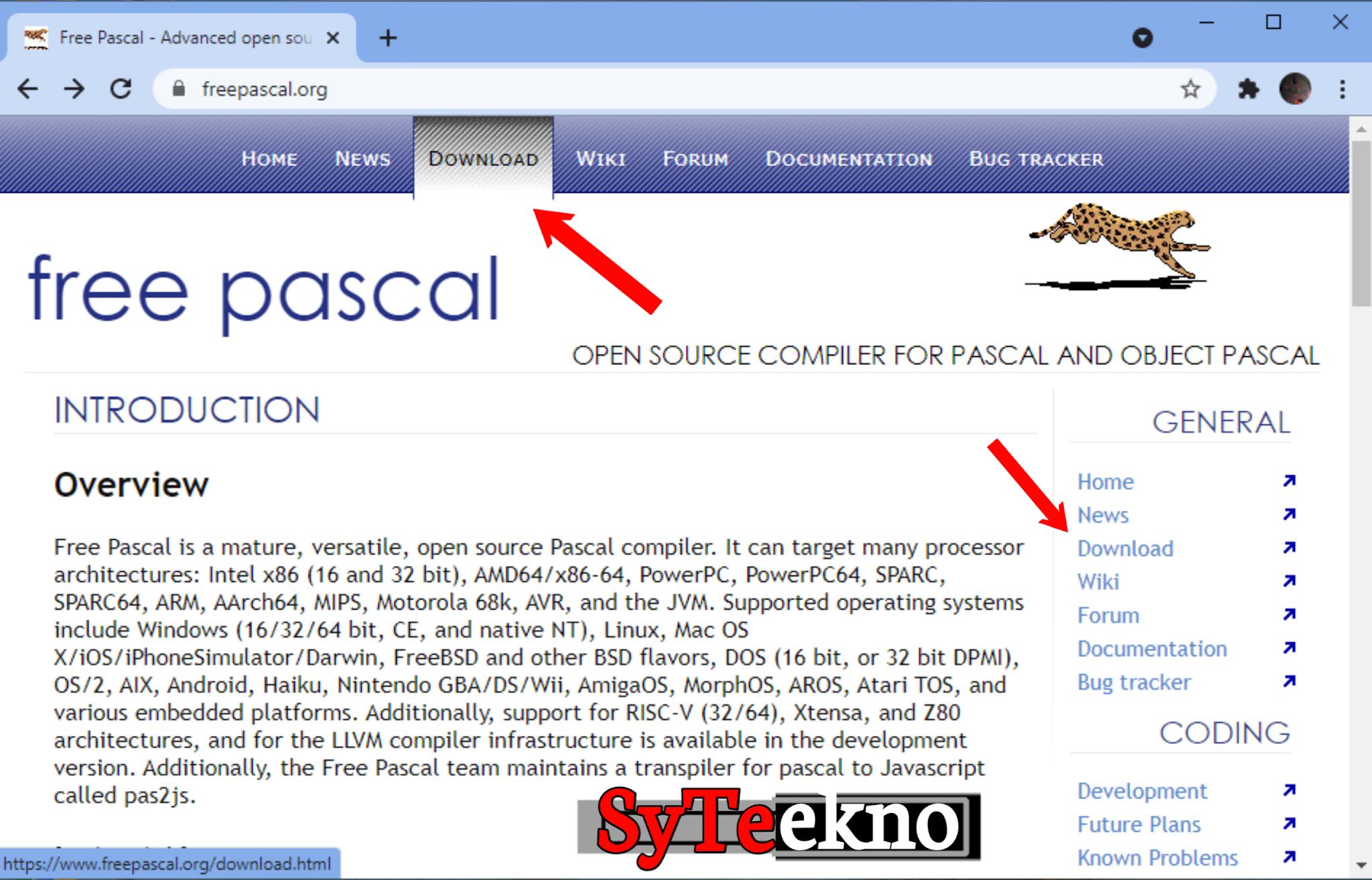 Mendownload Pascal melalui web bag 1 syteekno