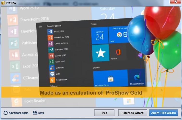 Cách sử dụng Proshow Gold 9 trên máy tính windows để làm video từ ảnh, nhạc f