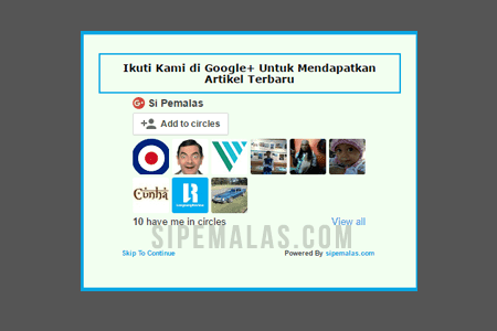 Cara Membuat Widget Follow Google+ Melayang di Blog