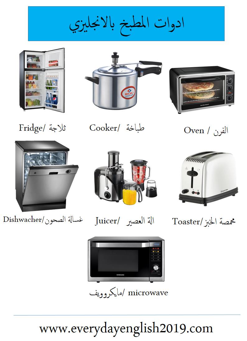 ادوات المطبخ بالانجليزي 1